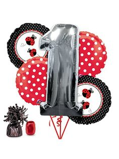 Celebrate with the Ladybug Birthday Balloon Kit for your Balloon Kits party. Find amazing selections and prices on all birthday party decorations & supplies at Birthday in a Box. 1st Birthday Balloons, Birthday Pinata, 1st Birthday Party Supplies, Birthday Fun, 1st Birthday Parties, Birthday Party Decorations, Birthday Stuff, Themed Parties, Second Birthday Ideas