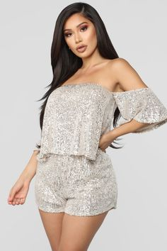 The Perfect Night Sequin Romper – Silver fashion nova – Fashions Homecoming Romper, Stylish Outfits, Cool Outfits, Teen Outfits, Stage Outfits, Wedding Rompers, Black Lace Jumpsuit, Rompers Dressy, Fashion Nova Models