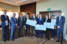 """Finał konkursu EY Financial Challenger. Zwycięska drużyna """"Warsaw Słoics""""."""