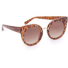 Stella Mccartney Round Cat Eye Sunglasses ($290) ❤ liked on Polyvore featuring accessories, eyewear, sunglasses, stella mccartney, round cat eye glasses, grey sunglasses, round glasses and gray sunglasses