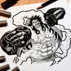 Monkey D Luffy~(Gear 4) by David Freeman: [D.F]
