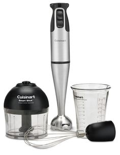 Cuisinart Stick Hand Blender 4 Attachments 2 Speed 200 watt Beake Whisk Handheld