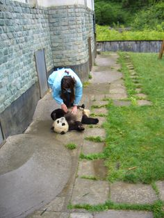 Wolong Panda Reserve outside of Chengdu, China (before the earthquake). Yes, that's me.