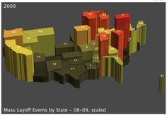 3d visualisation of differences in region    http://lonewolflibrarian.wordpress.com/category/data-visualization/