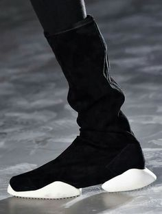 Ankle boot | Rick Owens x Adidas AW16 | Also available in brown at Concrete Store Papestraat The Hague