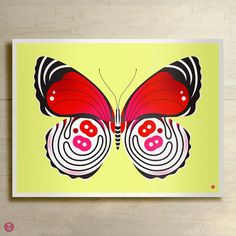 88 butterfly limited edition print by bee things