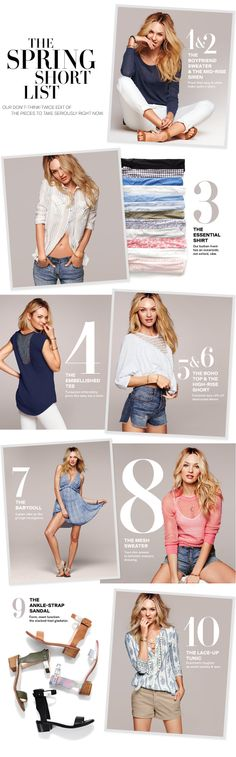 Top 10 Spring Essentials: Dresses, Denim & Sweaters - Victoria's Secret