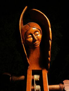 Carved head from 7 string viol