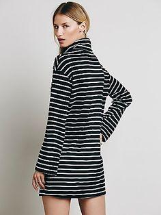 Striped Cowl Dress