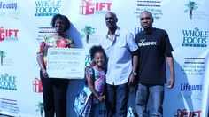 """WithOurWords.org Director Tama Brisbane Celebrity Writing Prompts Project """"We Rock Green Mics"""" with Dave Brown & daughter"""