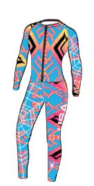 Spyder Women's Performance GS Race Suit 2014 - 499 Splash/Heritage/Julia Mancuso