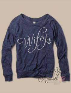 Freedom Rings Apparel - Navy Wifey Top, $32.95 (http://www.freedomringsapparel.com/navy-wifey-top/)