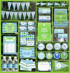 golf themed party - Google Search Some great tag ideas in here- I also like the 'water hazard'.