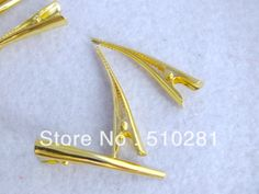 40*6mm Gold plated hair clips hair jewelry findings 1000PCS/LOT LK-228 $90.98