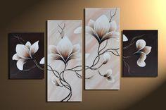 Tableau Design Marron Wonder Flowers : tableau fleurs Plus Cheap Canvas Art, 3 Piece Canvas Art, Modern Canvas Art, Large Canvas Art, Modern Wall Art, Oil Painting Flowers, Oil Painting Abstract, Multiple Canvas Paintings, Tableau Design