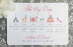 Wedding Weekend Itinerary  The Big Day by ThatPrettyInvitation
