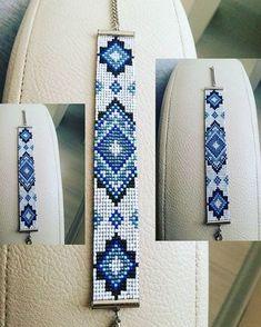 Ткачество.Бисер. Seed Bead Bracelets, Loom Beading, Armband, Loom Bracelet Patterns, Bead Loom Patterns, Jewelry Patterns, Beading Patterns, Beaded Crafts, Handmade Beaded Jewelry