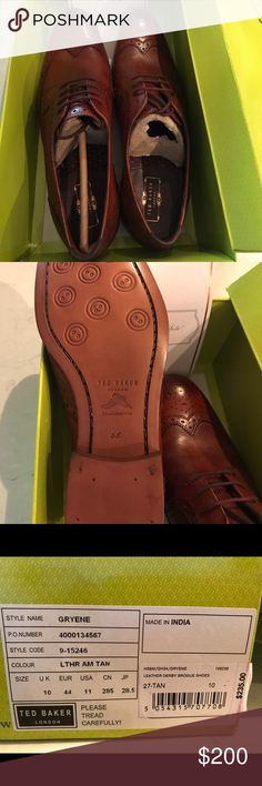 Men's Ted Baker wingtips Brand new, never worn, size 11 Ted Baker shoes. Ordered directly from the Ted Baker website. Box was slightly damaged during shipping. Ted Baker London Shoes Oxfords & Derbys