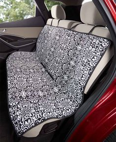 The Quilted Car Seat Cover keeps your vehicle clear of dirt and debris tracked in by furry paws. This easy-to-install, adjustable cover features 2 fabric-magic closures that keep it in place. The durable quilted fabric is water-resistant and has an appea Back Seat Car Covers, Paisley Quilt, Car Seat Protector, Butterfly Quilt, Car Upholstery, Diy Storage, Car Accessories, Baby Car Seats, Sewing