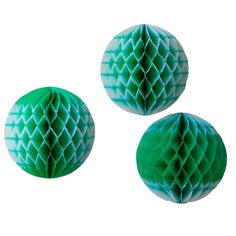 These unique ombré honeycomb balls will be the star of your next celebration! Hand dip-dyed and hung with ribbon, these high-quality tissue paper balls fold flat and for easy storage and may be reused