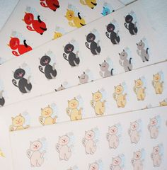 """Cat Bath Stickers / Todo List / Pet Reminder / Planner Stickers • You will receive 1 sheet with 28 paper stickers. • Stickers measure approx. 0.7"""" x 0.5"""" each. • Sticker sheet measures approx. 7.7"""" x 5.3"""" • Non-removable matte paper. • All items are designed by me and made to order.  •Available in 4 COLORS: 1. Light Pink 2. Light Orange 3. Gray / Beige 4. Multicolor ▹▹▹▹▹▹▹▹▹▹▹▹▹▹▹▹▹▹▹▹▹▹▹▹▹▹▹▹▹▹▹▹▹▹▹▹▹▹▹▹▹▹ PROCESSING TIME ▻ Orders are shipped out within 3-7 business days…"""