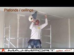 #bricolage : coller une bande placo droite, 1/3 le collage - YouTube