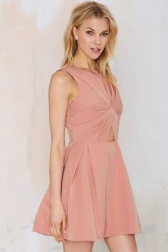 Knot in Love Cutout Dress - Going Out | Day | Fit-n-Flare | Solid | Dresses | Dresses | Clothes | All