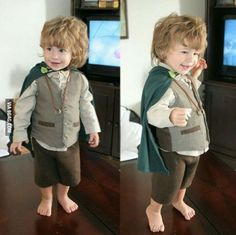 Cute Bilbo cosplay from The Hobbit