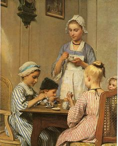 1879Albert Samuel Anker (Swiss, 1831-1910) ~ Kinderfrüstück [Children's Breakfast]