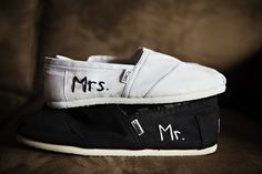 Mr. and Mrs. // #shoes  #TOMS TOMS Shoes #OneforOne One for One #fashion #style #wedding