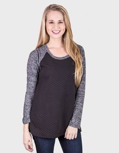 Quilted Contrast Top Get this for 10% off by using the code #PartyCrasherJulia online or through social shop!