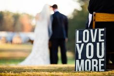love this sweet sign at the ceremony | Bamber Photography #wedding