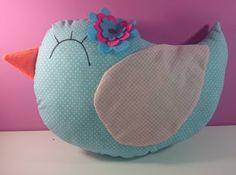 Gata borralheira quem te pintou?: Linda almofada de passarinho, tecido 100% algodão,...