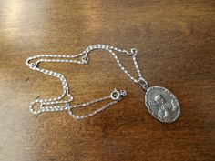 Rare Saint Benedict Medal With Sterling Chain by GoldenBeeAntiques