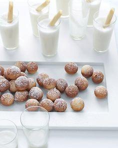 Beignets  http://www.marthastewartweddings.com/224332/beignets?czone=inspiration%2FDIY%2Fwedding-food-and-drinks&gallery=231214&slide=224332&center=352459