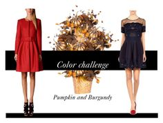"""""""colorchallenge"""" by astellaatelier ❤ liked on Polyvore featuring interior, interiors, interior design, home, home decor, interior decorating, Alberta Ferretti, colorchallenge and pumpkinandburgundy"""