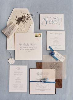 California Wedding: Fresh Powder Blue Decor - MODwedding