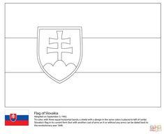 Flag of Slovakia Slovakia Flag, Flag Colors, Gif Animé, Chevrolet Logo, Minis, Coloring Pages, Homeschool, Jar, World War Two