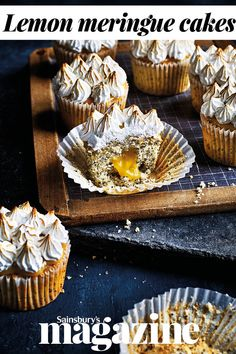 These zesty poppy seed cupcakes are inspired by the classic pudding, lemon meringue pie
