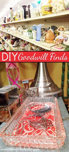 DIY Goodwill Finds | Glass DIY | Mod Podge | DIY Coasters | DIY Jewelry Tray | www.therefurbishedlife.com