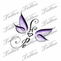 I like this for Maggie's memory tat... Except it would be joy and more of an angel instead of a butterfly.