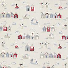 Buy John Lewis Beside The Seaside Fabric, Blue Online at johnlewis.com