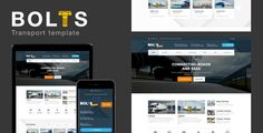 Bolts Transport - Transport/freight Business Template . Bols Transport has been developed from the ground up catering solely to the Transportation Industry; no matter which segment you are in, Botls has a professional layout for your