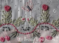 I ❤ embroidery . . .   Back Stitch / Point Arrière  This is a selection of back stitch for stitchinfingers.ning.com  This is part of a ( block for Emiko )
