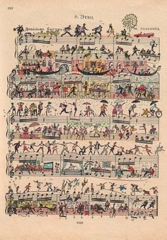 Music is art.  And I love to collect old sheet music.  But I would hate to have to try to sight-read this.