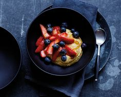 A Raw Turmeric Coconut Bowl with Fresh Berries - The Chalkboard