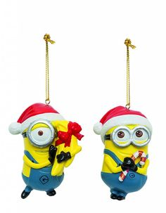 Despicable Me Minion kerstballen Set van 2 - Famous Wannahaves