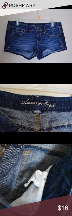 American eagle short shorts Blue jean short shorts in excellent condition, only worn a few times. American Eagle Outfitters Shorts Jean Shorts