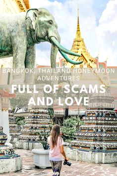 "Bangkok, Thailand is absolutely stunning! Thailand's capital city with over 8 million people is just waiting to be explored. But did you know that Bangkok, Thailand is full of scams and love? Find out why on the blog and avoid falling victim to a common scam. Be sure to save this post for your visit to the ""City of Angels!"" #schloetravels #bangkokthailand #thingstodoinbangkok #thailandhoneymoon Thailand Honeymoon, Bangkok Thailand, Thailand Travel, City Of Angels, Capital City, Travel Guides, Stuff To Do, Explore, Adventure"