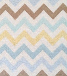 Nursery Fabric- Multi Chevron Flannel